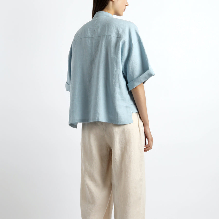 Oversized Mandarin Shirt - SS21 - Sea Salt Blue