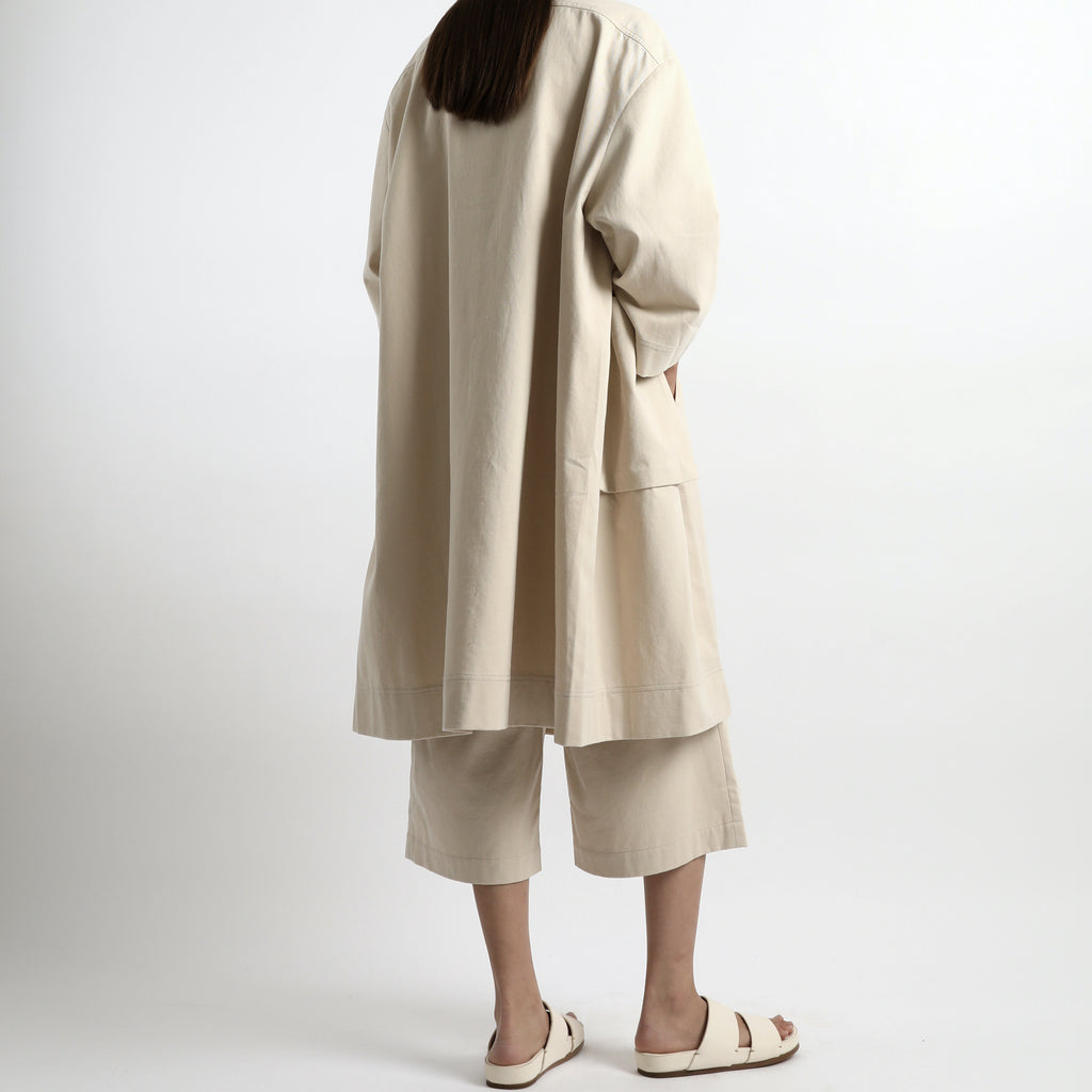 Pockets Long Coat - Unisex - SS21 - Sand Beige