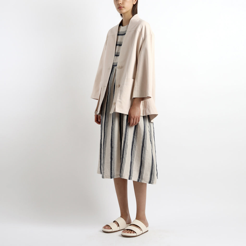 Pockets Short Coat - Unisex - SS21 - Sand Beige
