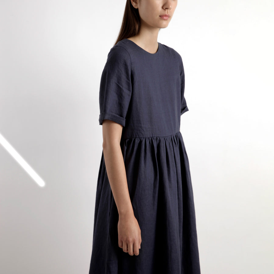 Short-Sleeves Sundress - SS21 - Navy