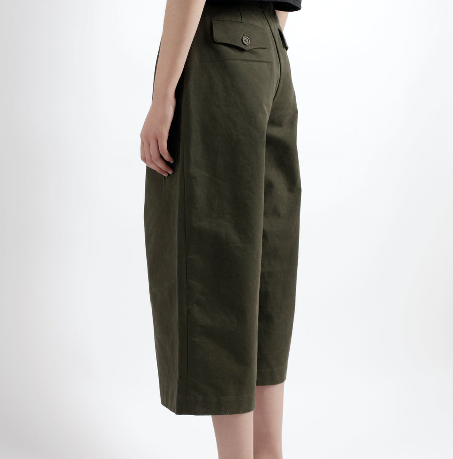 Pleated Skate Trouser - Workwear Edition - SS21 - Olive