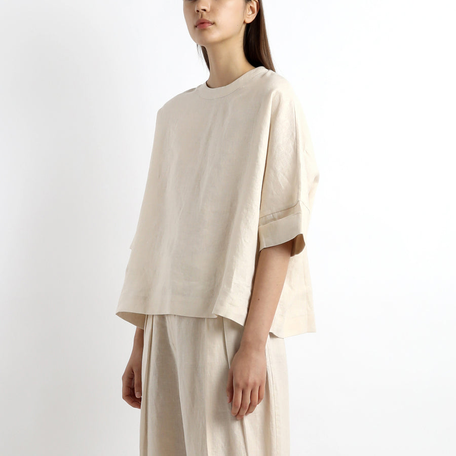 Linen Square Top - SS21 - Sand