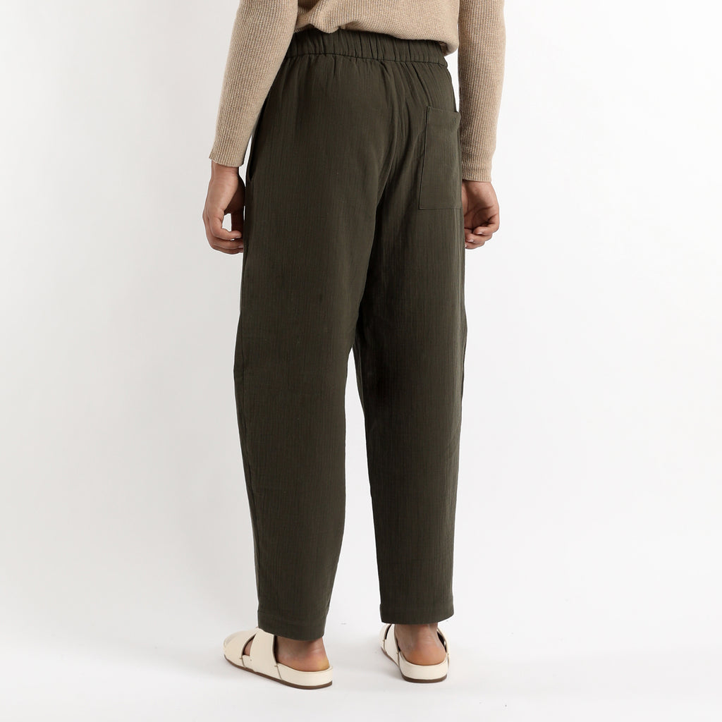 Unisex Elastic Pull-Up Trouser - Cotton - Color Options