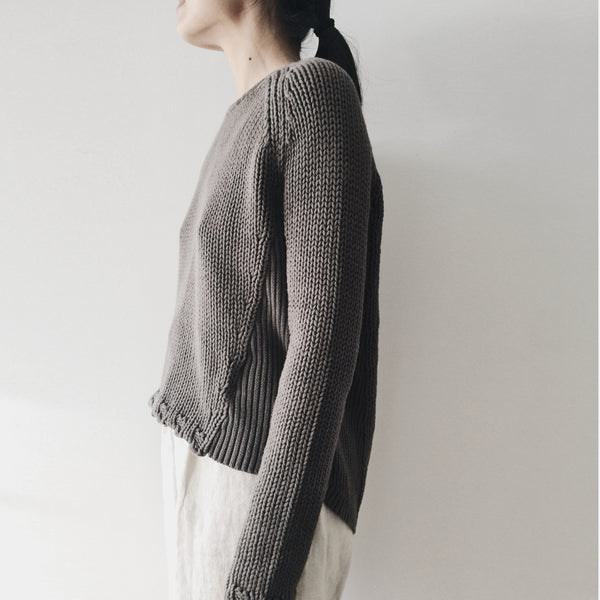 Side-Ribbed Sweater - Cotton - FW18
