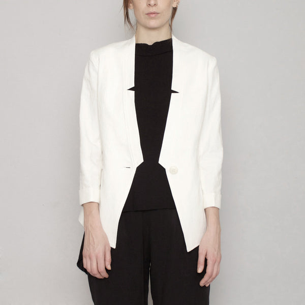 Deconstructed Blazer Signature - White