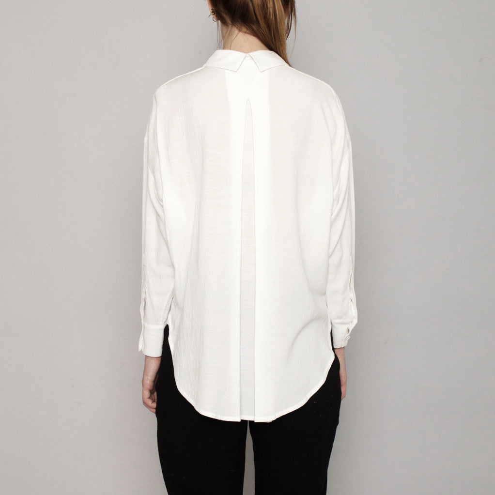 Signature Dolman Shirt - White