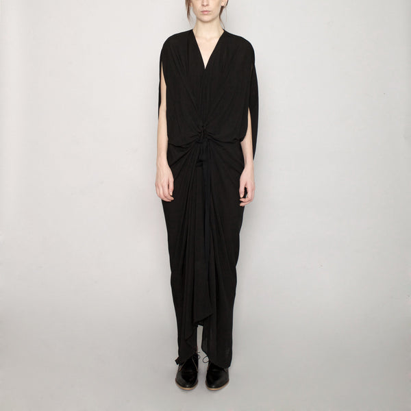 Signature Kimono Maxi Dress - Black