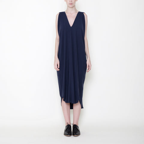 Signature Reversible Maxi Dress - Navy