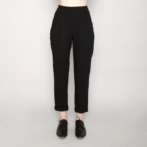 Signature Relaxed Tapering Trouser - Linen