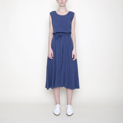 Sleeveless Drawstring Midi - Blue - SS18