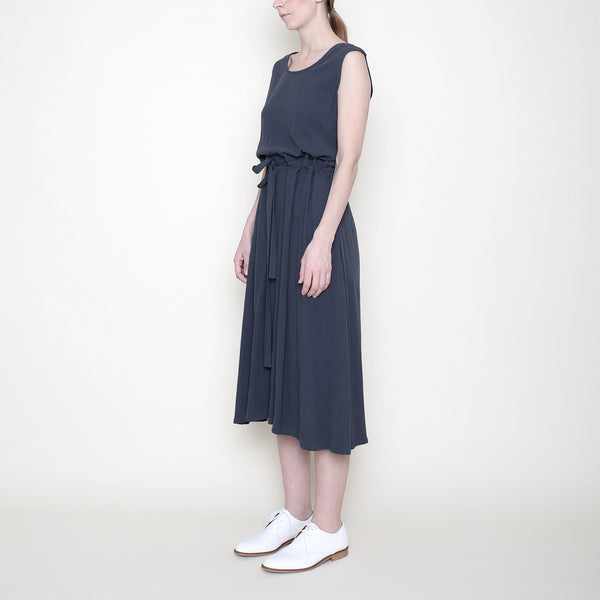 Sleeveless Drawstring Midi - Charcoal - SS18