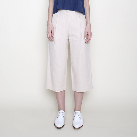 Spring Cropped Trouser - Cream - SS18