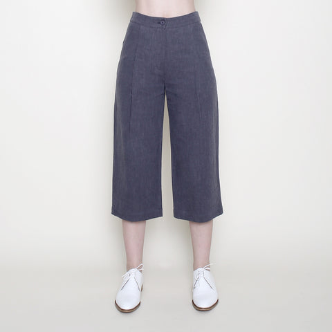Spring Cropped Trouser - Gray - SS18