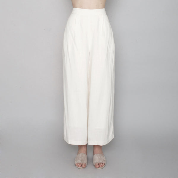 Spring Wide-Legged Trouser - Off-White - SS17