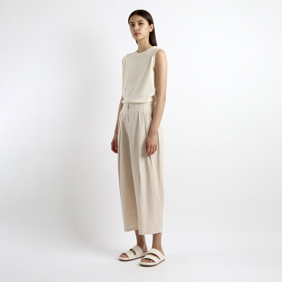 Summer Pleated Trouser - SS21 - Sand