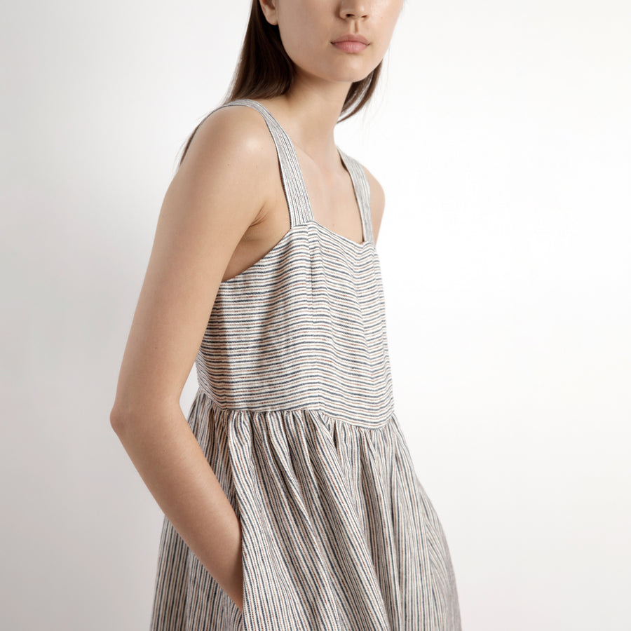 Summer Sundress - SS21 - Pinstripes
