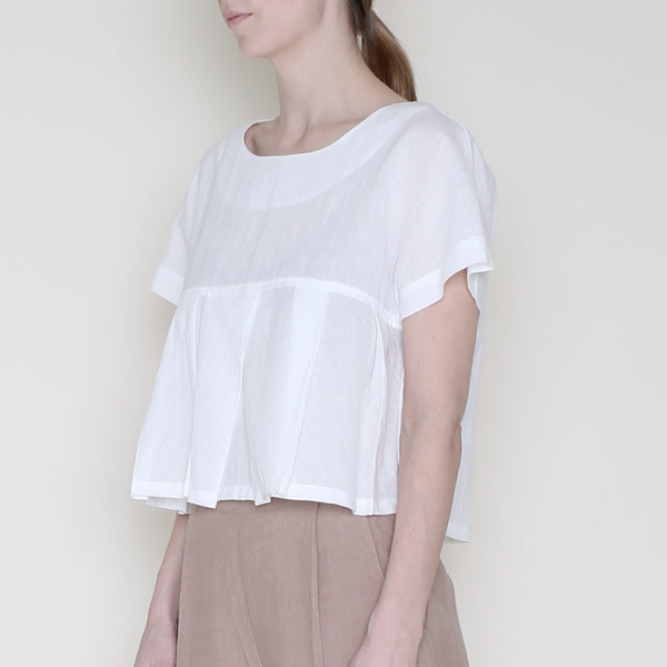 Pleated Summer Top - Off-White - SS18