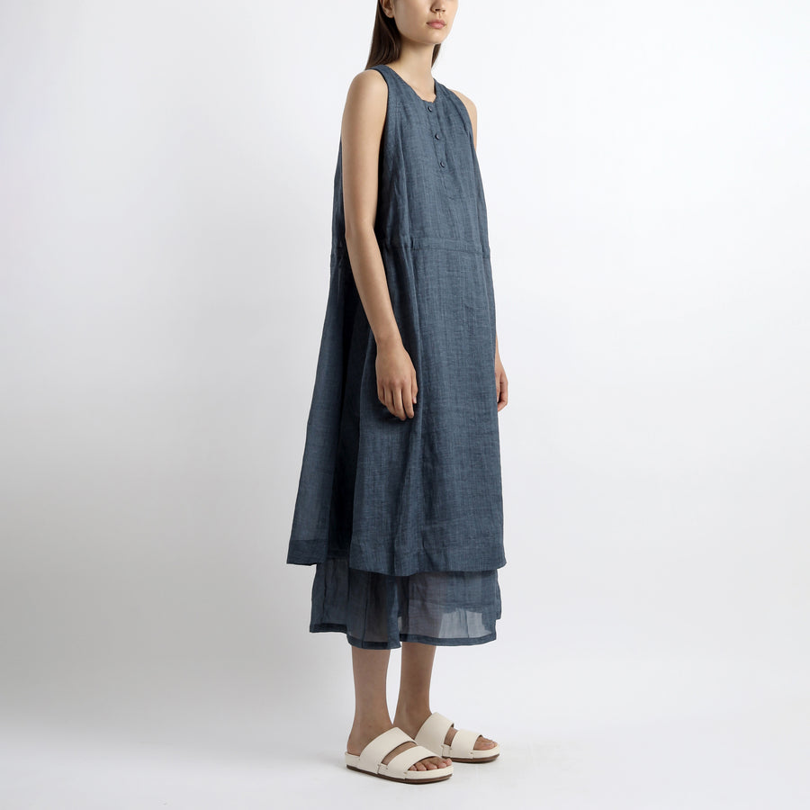 Summer Layered Dress - SS21 - Navy
