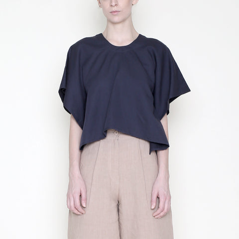 Swing Cropped Tee - Navy - SS18