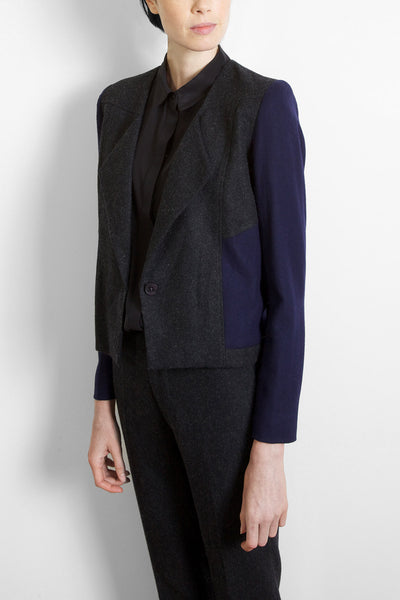 Cropped Wool Blazer