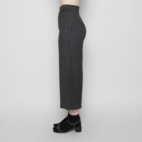 Wide-Legged Cropped Trouser- Stripe FW16