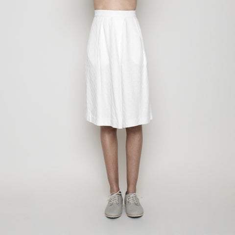 Summer A-Line Skirt- White SS16