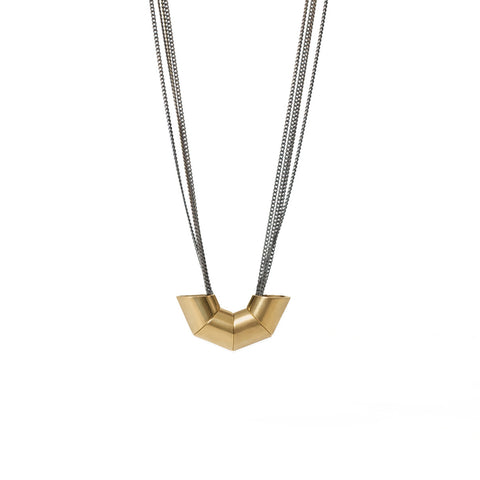 Quad Multi-Brass Chain Necklace