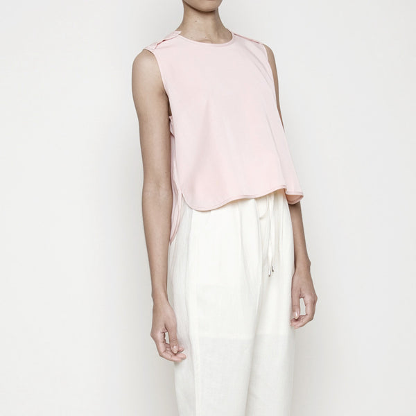 Crew Neck Cropped Top- Blush SS16