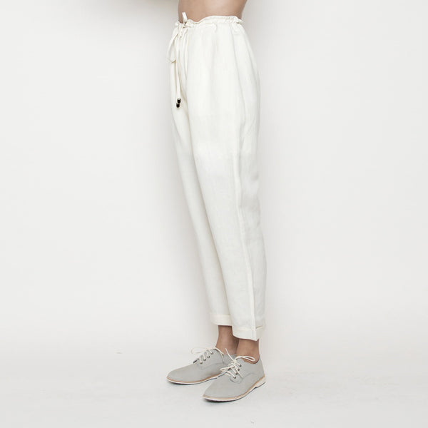 Drawstring Relaxed Pant- Cream SS16
