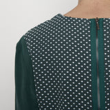 Cross-stitch long sleeves top - Green
