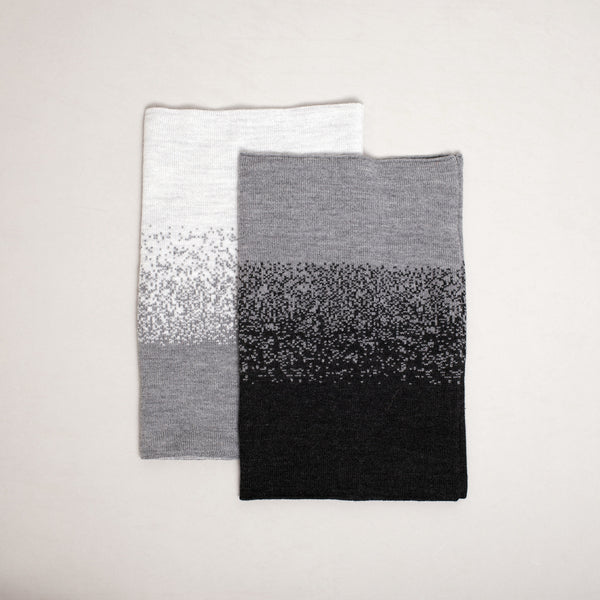 Gradient Ring Scarf - Silver + Gray FW16