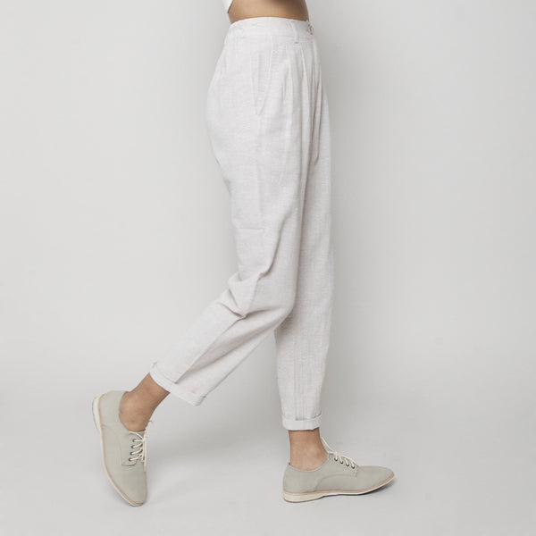 High Waisted Trouser- Sand Gray SS16