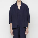 Structured Linen Jacket- Navy SS16
