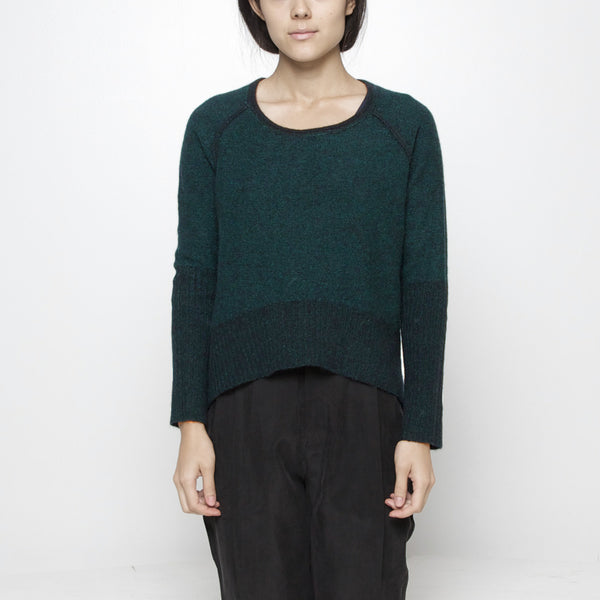 Reversible Cropped Sweater FW15 - Green
