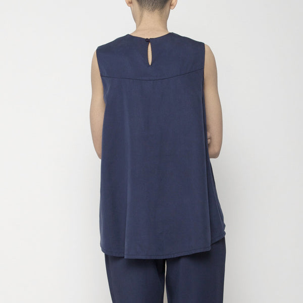 Sleeveless Tent Top - Navy SS16