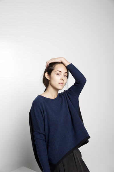 Cocoon Sweater FW15 - Navy/Black