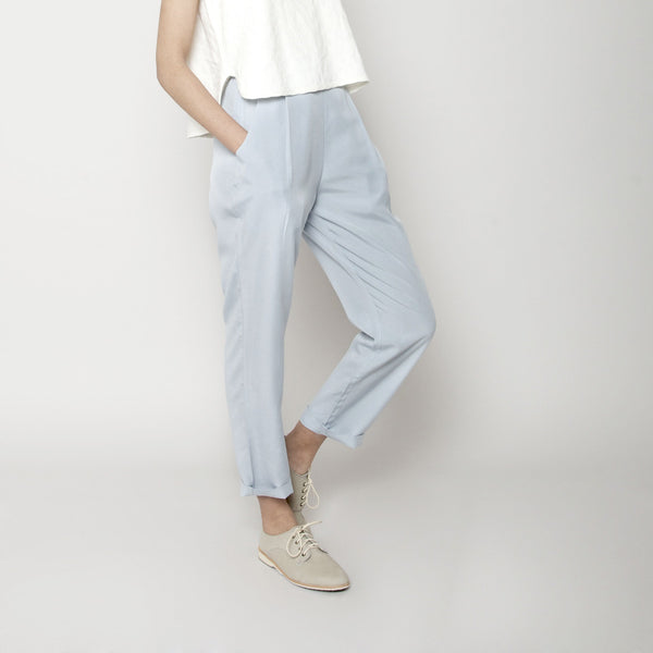 Relaxed Tapering Trouser- Sky Blue SS16