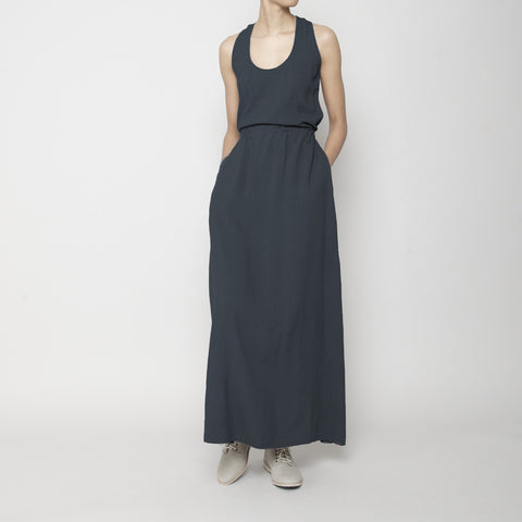 Racerback Maxi Dress- Navy