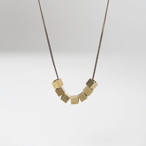 Brass Cubes Necklace