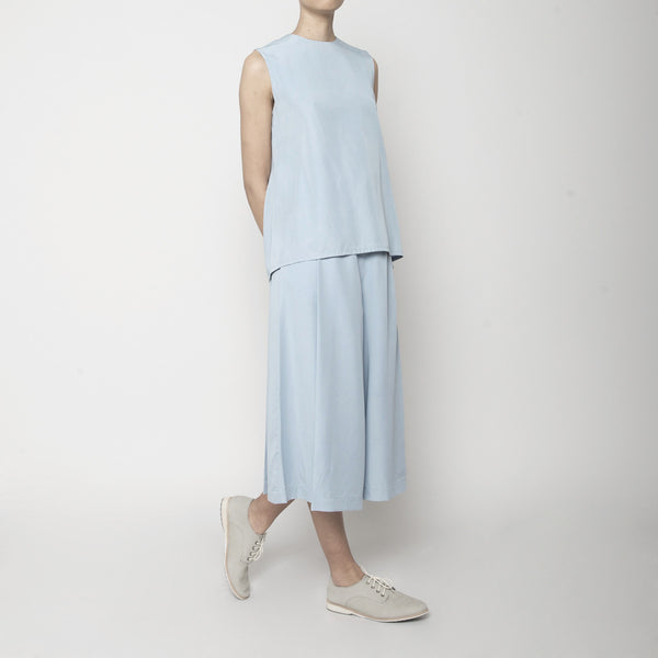 Sleeveless Tent Top- Sky Blue SS16