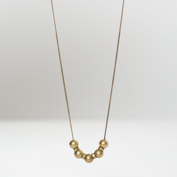 Brass Sphere Necklace