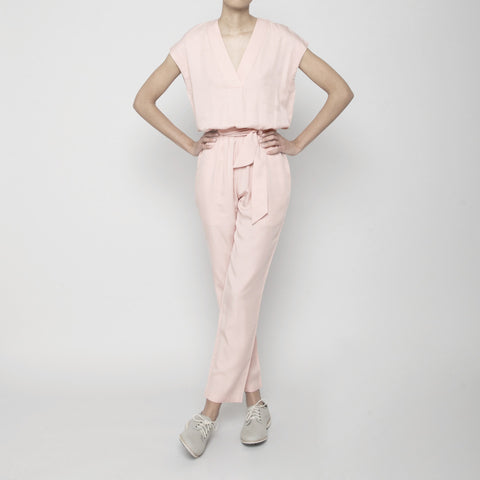 V-Neck Jumpsuit- Blush SS16