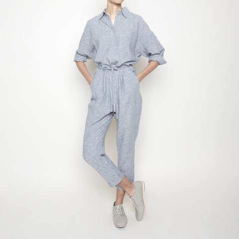 Drawstring Relaxed Pant- Stripe SS16