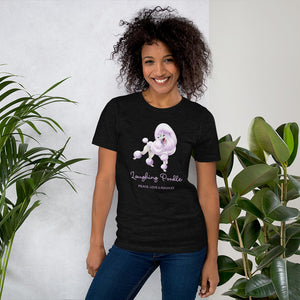 Laughing Poodle - Peace, Love and Poodles - Short-Sleeve Unisex T-Shirt