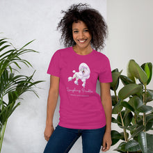 Load image into Gallery viewer, Laughing Poodle - Peace, Love and Poodles - Short-Sleeve Unisex T-Shirt
