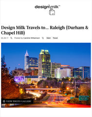 Design Milk RDU Travel