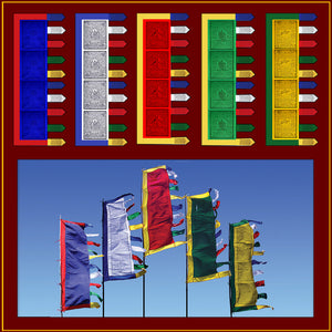 6 foot - Set of 5 Prayer Flags