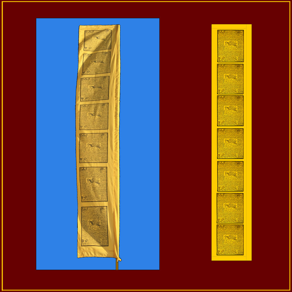 10 foot - Windhorse Victory Banner - Bhutanese Style