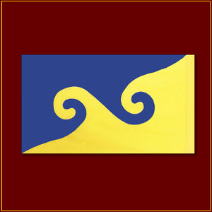 "Karmapa Dream Flag - 36""X 21"""