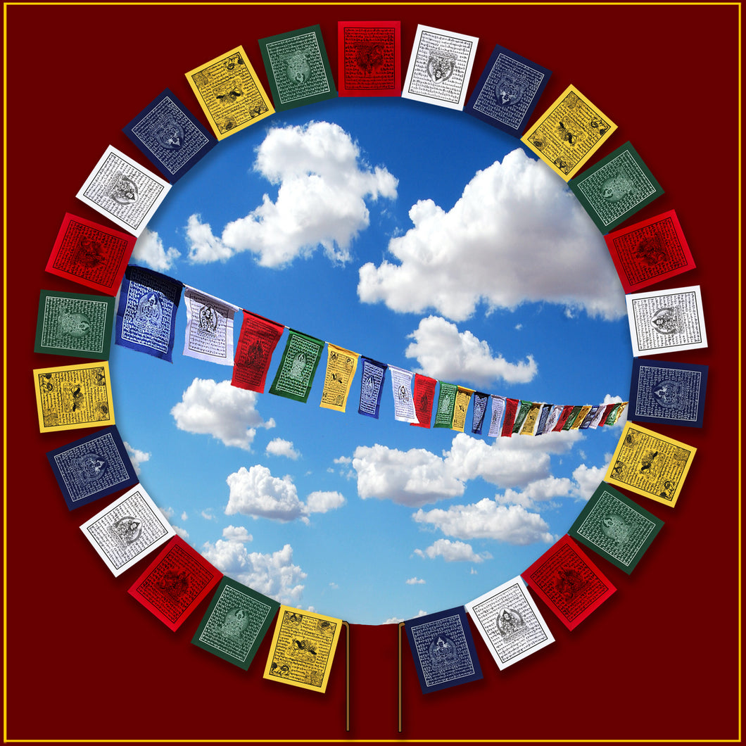 Mini Prayer Flag - Set of 25 on Rope<br>13 ft. Long